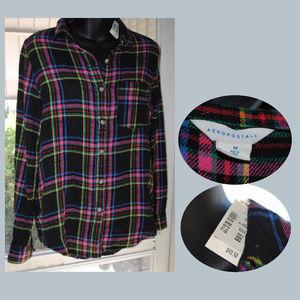 AEROPOSTALE NWT Soft Flannel Button Down Shirt M